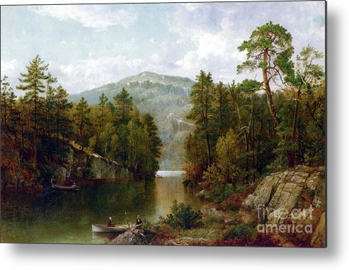 The Lake George Metal Print featuring the painting The Lake George by David Johnson