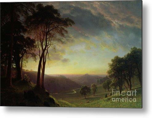 Albert Metal Print featuring the painting The Sacramento River Valley by Albert Bierstadt