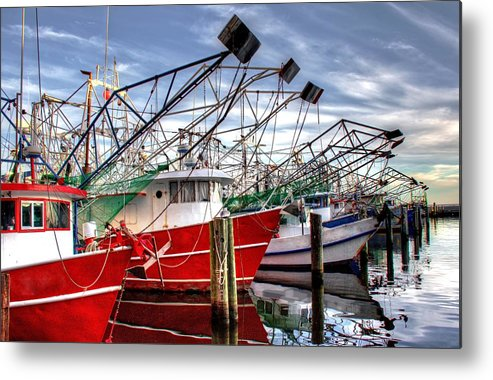 Shrimp Boats Metal Print featuring the photograph The Shrimpers Salute by Bo Lamey