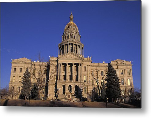 State Metal Print featuring the photograph The State Capitol Building by Richard Nowitz