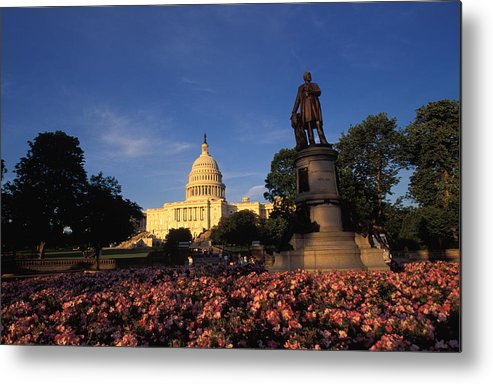 Washington Metal Print featuring the photograph The United States Capitol, Washington by Richard Nowitz