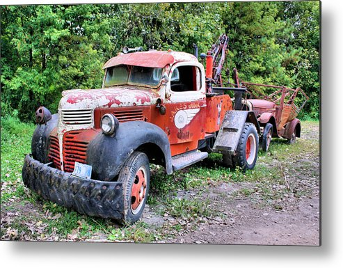 Old Truck Metal Print featuring the photograph Two For One by Kristin Elmquist