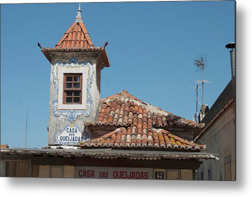 Unique Metal Print featuring the photograph Unique Architecture In Portugal by Carl Purcell