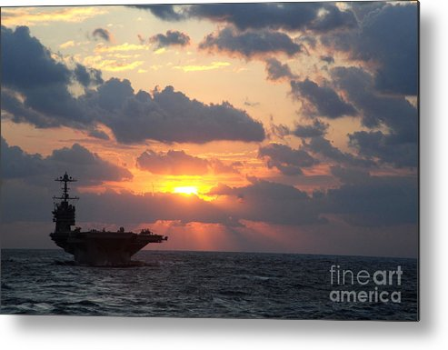Hsc-25 Metal Print featuring the painting Uss George Washington by Celestial Images