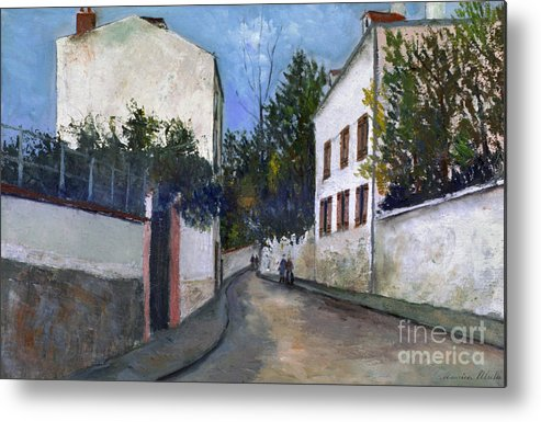 1912 Metal Print featuring the photograph Utrillo: Sannois, 1912 by Granger