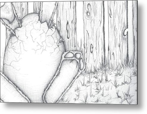 Egg Metal Print featuring the drawing Waiting by Tara M Santoro