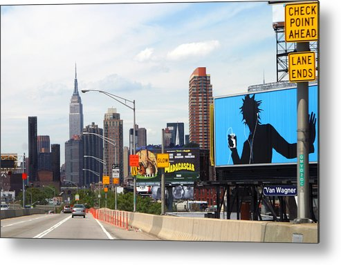 Nyc Metal Print featuring the photograph Welcome To Nyc by Chuck Kuhn