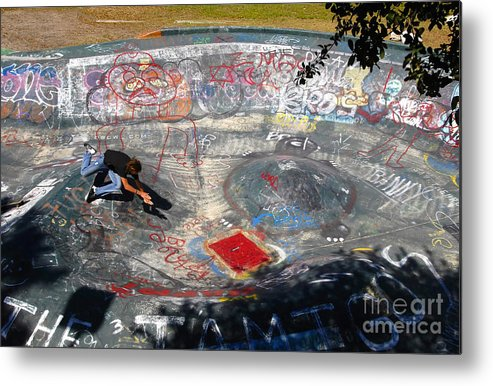Falling Metal Print featuring the photograph Wipe-out by David Lee Thompson