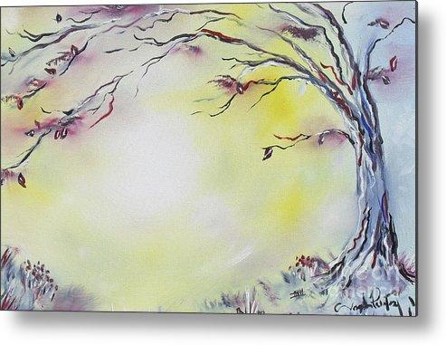 Tree Art Metal Print featuring the painting Wonderland Bliss by Joseph Palotas
