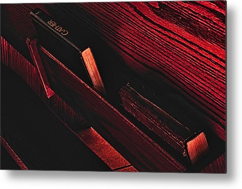 Wood And Book Metal Print featuring the photograph Wood And Books by Paul W Sharpe Aka Wizard of Wonders
