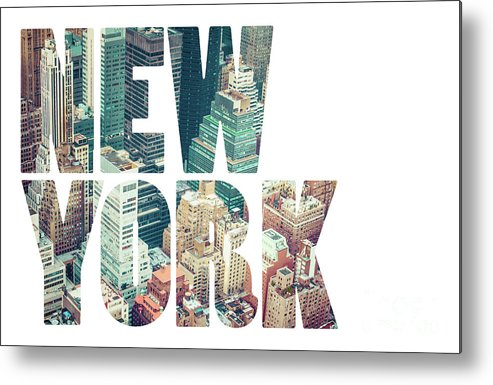America Metal Print featuring the photograph Word Usa Manhattan Skyline At Sunset, New York City by Mariusz Prusaczyk