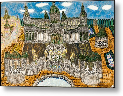 Metal Print featuring the painting Worlds Fair Pavillon Facing Promenade Of Nations by Peter Chrisler