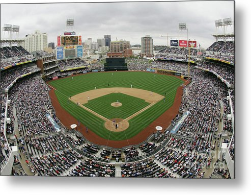 Scenics Metal Print featuring the photograph Chicago Cubs V San Diego Padres by Donald Miralle