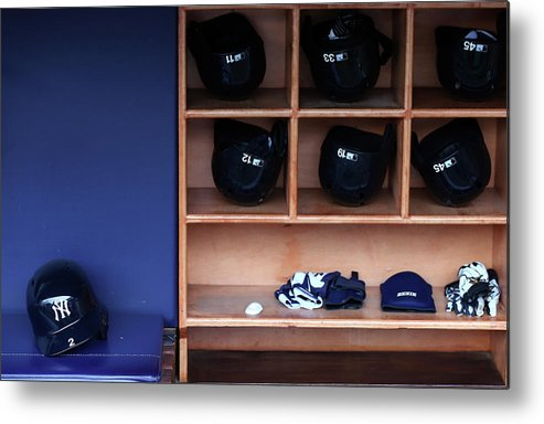 Headwear Metal Print featuring the photograph Kansas City Royals V New York Yankees 1 by Elsa