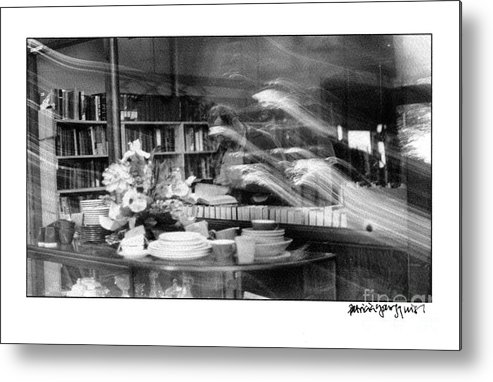 Men Metal Print featuring the photograph Man At Book Store by Patricia Youngquist