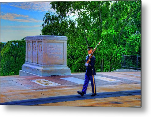 Craig Fildes Photography Metal Print featuring the digital art Tomb Of The Unknown Soldier Painting by Craig Fildes