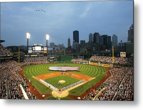 People Metal Print featuring the photograph 77th Mlb All-star Game by Jamie Squire