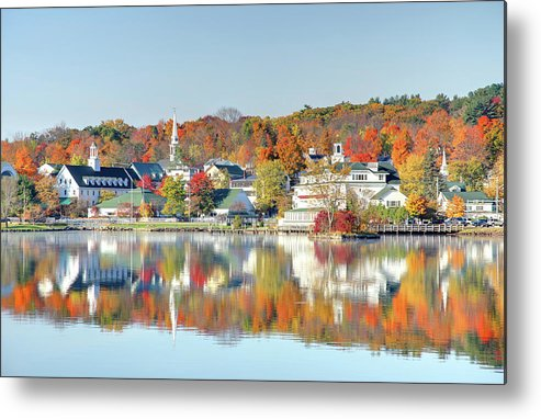 Scenics Metal Print featuring the photograph Autumn On Lake Winnipesaukee by Denistangneyjr