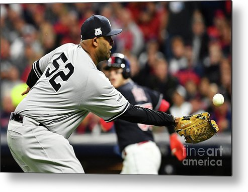 Three Quarter Length Metal Print featuring the photograph Divisional Round - New York Yankees V by Jason Miller