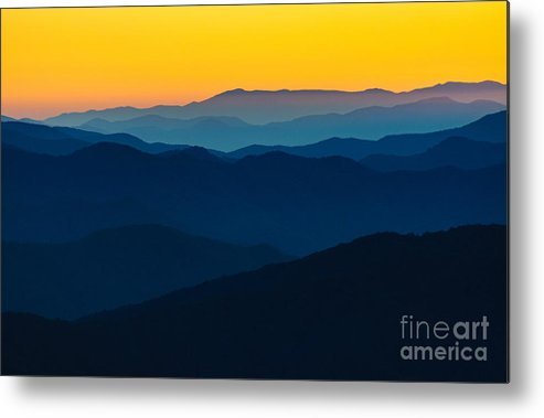 Camping Metal Print featuring the photograph Dramatic Sunrise At Great Smokey by Zack Frank