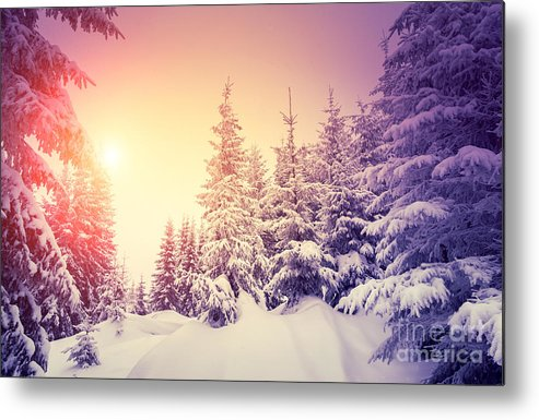 Ice Metal Print featuring the photograph Fantastic Landscape Glowing By by Creative Travel Projects