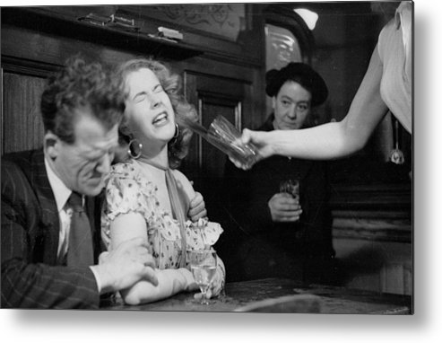 Mid Adult Women Metal Print featuring the photograph Have A Drink by Bert Hardy