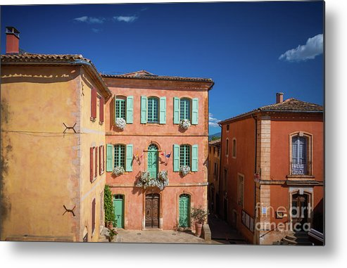 Europa Metal Print featuring the photograph Roussilon Town Square by Inge Johnsson