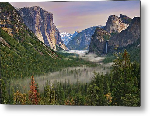 Scenics Metal Print featuring the photograph Tunnel View. Yosemite. California by Sapna Reddy Photography