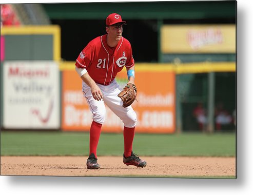 Great American Ball Park Metal Print featuring the photograph Todd Frazier by Andy Lyons
