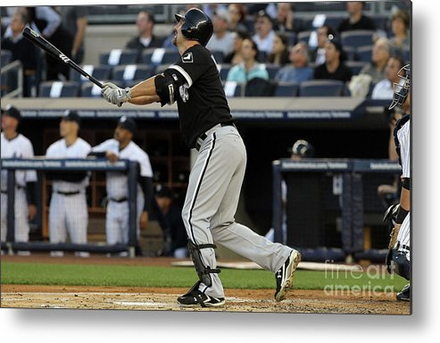 American League Baseball Metal Print featuring the photograph Paul Konerko by Jim Mcisaac