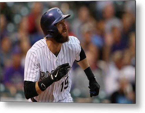 American League Baseball Metal Print featuring the photograph Charlie Blackmon by Doug Pensinger