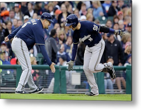 American League Baseball Metal Print featuring the photograph Ryan Braun by Duane Burleson