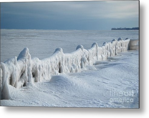 Metal Print featuring the photograph Frozen Pier by Cate Schafer