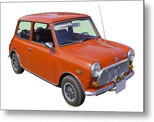 Car Metal Print featuring the photograph Red Mini Cooper by Keith Webber Jr