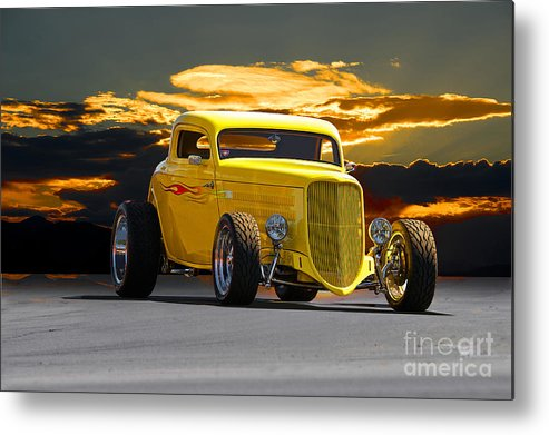 Coupe Metal Print featuring the photograph 1933 Ford Hiboy Coupe by Dave Koontz