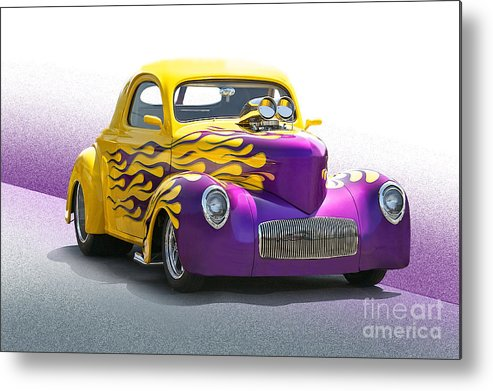 Metal Print featuring the photograph 1941 Willys 'pro Street' Coupe by Dave Koontz