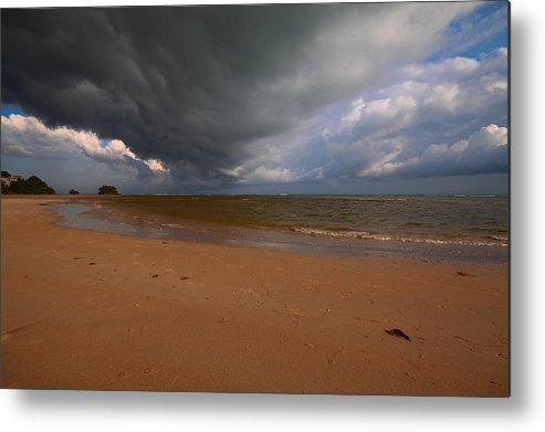 Beach Metal Print featuring the photograph A Storm Brewing Over Nai Yang Beach Phuket Island Thailand by Ash Sharesomephotos