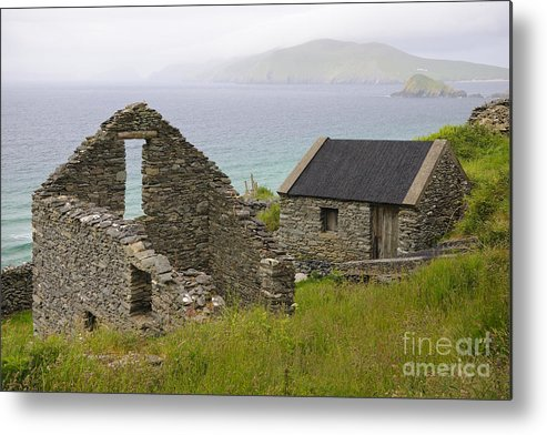 County Kerry Metal Print featuring the photograph Abandoned Stone House, Slea Head by John Shaw