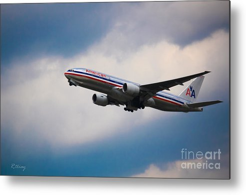 American Airlines Metal Print featuring the photograph American Airlines Boeing 777 by Rene Triay Photography
