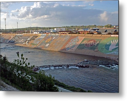 Riverwalk Metal Print featuring the photograph Arkansas River Walk by Shirley Roberson