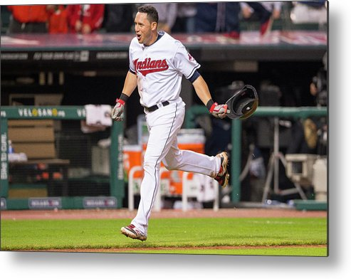 American League Baseball Metal Print featuring the photograph Boston Red Sox V Cleveland Indians 1 by Jason Miller