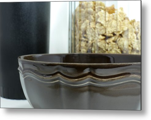 Bowl Metal Print featuring the photograph Breakfast by Frederick Kjorling