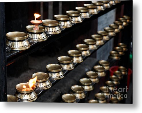 Nepal Metal Print featuring the photograph Buddhist Prayers by Colin Woods