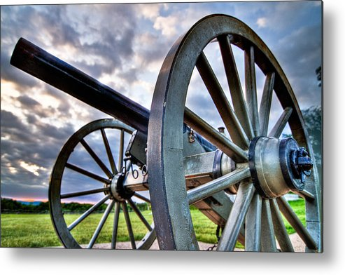 Abraham Metal Print featuring the photograph Cannon Over Gettysburg by Andres Leon