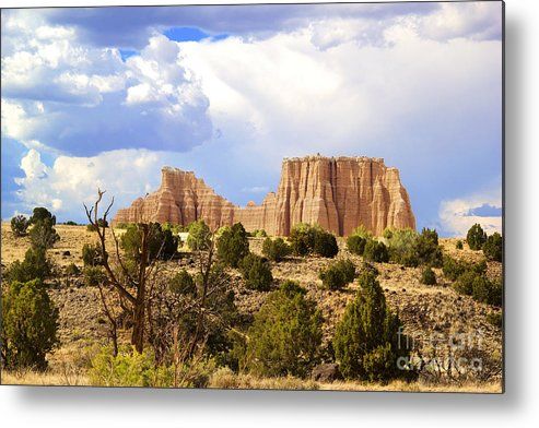 Capitol Reef National Park Metal Print featuring the photograph Capitol Reef National Park. Catherdal Valley by Southern Utah Photography