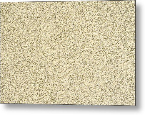 Abstract Metal Print featuring the photograph Cement - Stucco Wall Texture by Alain De Maximy