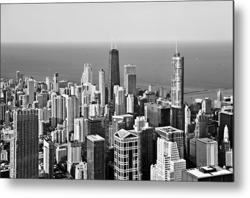 Aerial Metal Print featuring the photograph Chicago - That Famous Skyline by Christine Till