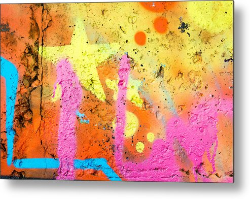 Abstract Metal Print featuring the photograph Colored Texture Detail by Alain De Maximy