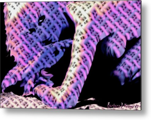 Abstract.woman Metal Print featuring the photograph Cornered by Barbara D Richards