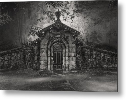Cemetary Metal Print featuring the photograph Do Not Enter by Gary Smith